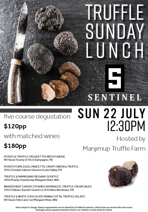 Truffle Sunday Lunch at the Sentinel Bar