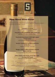Moss Wood Wine Dinner